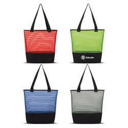 Sheer Mesh Pinstripe Tote Bag